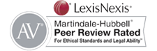 Lexis Nexis AV Martindale-Hubbell Peer Review Rated For Ethical Standards and Legal Ability